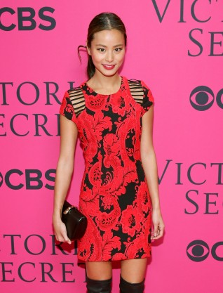 Actress Jamie Chung attends the 2013 Victoria's Secret Fashion Show at Lexington Avenue Armory on November 13, 2013 in New York City.