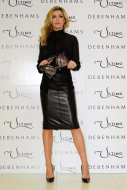 Abigail Clancy - Leather Pencil Skirt