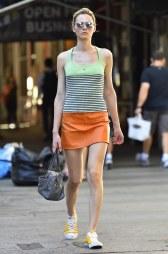 Andreja Pejic - Leather Mini Skirt